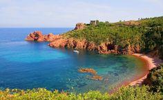 Les criques de l'Esterel Theoule Sur Mer, Sud Est, St Raphael, Roman City, Landscape Background, Photos Voyages, Cinque Terre, French Riviera, Sailing