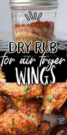 Air Fryer Oven Recipes, Air Frier Recipes, Air Fryer Dinner Recipes, Air Fryer Recipes Wings, Chicken Wing Seasoning, Chicken Wing Sauces, Chicken Wing Marinade, Marinated Chicken Wings, Air Fry Chicken Wings