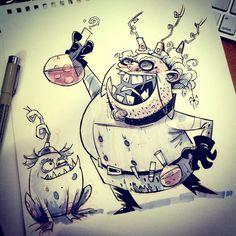 SketchBomb - New Delhi #3 : Mad Scientist by kshiraj on DeviantArt ★ Find more at http://www.pinterest.com/competing/