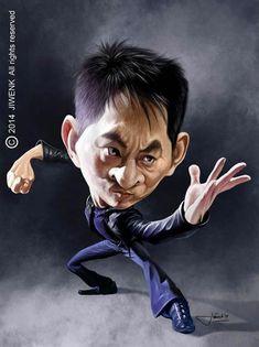 Caricatura de Jet Li