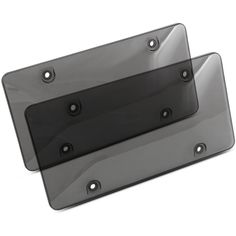 2X  CLUBMAN Black Stainless Steel License Plate Frame Rust Free With Bolt Caps