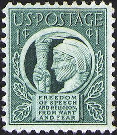 Four Freedoms 1 cent stamp