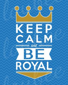 Keep Calm & BE ROYAL Typographic Chevron Print by LoubeeDesigns
