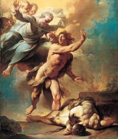 Giovanni Domenico Ferretti, Cain and Abel, 1740 Cain becomes a restless wanderer