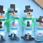 snowman egg carton ideas