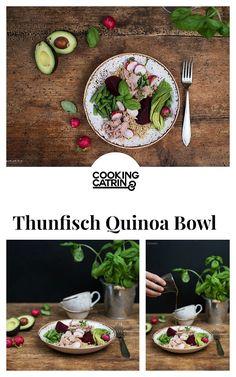 Thunfisch Quinoa Bowl, Superfood Bowl, Lunch Bowl, Mittagessen, Abendessen, gesund, healthy, dinner, lunch, tuna quinoa bowl, tuna recipe, Thunfisch Rezept, salad, Salat, quinoa recipe, healthy lunch, healthy dinner, Quinoa Rezept...http://www.cookingcatrin.at/superfood-bowl-mit-thunfisch-quinoa/