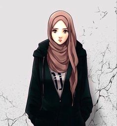 Most Hits 30 Cool Hijab Anime Pictures Hijab - 97 Best Hijab Anime Pictures Cartoon Animations And Pictures - Hijabi Girl, Girl Hijab, Muslim Girls, Muslim Women, Cover Wattpad, Hijab Drawing, Girly M, Islamic Cartoon, Hijab Cartoon