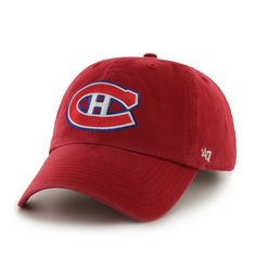14e91478748e9 Montreal Canadiens Clean Up Red 47 Brand Adjustable Hat