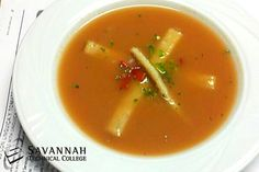 Gazpacho by Savannah Technical College student Chefs.  For more student chef creations like FB/ChefJeanVendeville. Here's the recipe: https://www.facebook.com/photo.php?fbid=416491555094827=a.266969730047011.62968.266939710050013=1