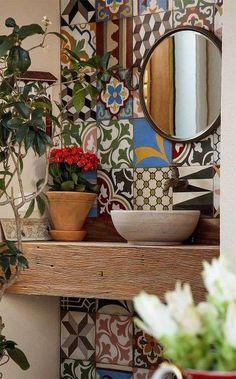 Idee per decorare le pareti del bagno - Maioliche in bagno
