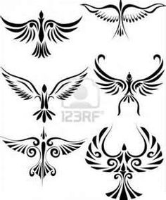 Bird Tribal Tattoo Royalty Free Cliparts Vectors And Stock
