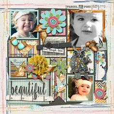 Digital Scrapbook Page Layout by Anita using At A Glance Papers, Elements and Alphabet Soup from Etc by Danyale at The Lilypad #etcbydanyale #digitalscrapbooking #memorykeeping