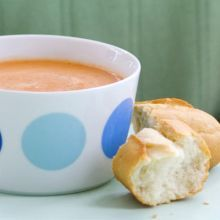 A yummy Real Tomato Soup recipe from the British cuisine! Authentic Real Tomato Soup recipe, written by natives! Explore more on OfRecipes! Bbc Good Food Recipes, Yummy Food, Tasty, Soups For Kids, Ham Chowder, Tomato Soup Recipes, Malted Milk, Food Shows, Emma Lewis