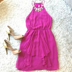 Rebecca Taylor Dress Beautiful Purple dress. Only worn once for a wedding! Rebecca Taylor Dresses