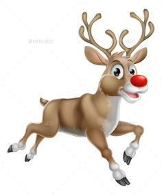 Buy Christmas Cartoon Reindeer by Krisdog on GraphicRiver. One of Santas Cute Christmas Cartoon Reindeer Christmas Deer, Christmas Animals, Christmas Images, Christmas Design, Christmas 2014, Christmas Stuff, Winter Christmas, Merry Christmas, Xmas