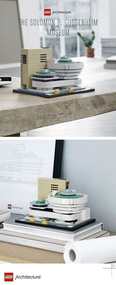 Recreate the Solomon R. Guggenheim Museum® with LEGO® Architecture! Lego Space Station, Lego Studios, Famous Structures, Cool Toys, Awesome Toys, Lego Architecture, Lego Projects, Lego Pieces, Lego Building