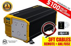 Power Inverters - KRIGER 3000 Watt 12V Power Inverter Dual 110V AC outlets Automotive back up power supply for refrigerators microwaves coffee makers Chainsaws vacuums power tools MET approved to UL and CSA -- You can find out more details at the link of the image.