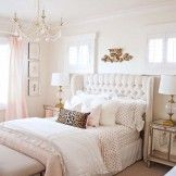 pink and gold girl's bedroom