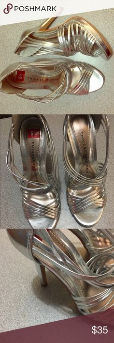 Shoes New Chinese laundry strap silver high heel very comfortable very cute size 6.5 Chinese Laundry Shoes Heels