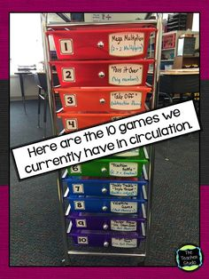Keeping organized in math workshop is a key part of making math stations or centers work! This post has tips for keeping math games and math stations organized. Perfect for grade 2 math, grade 3 math, grade 4 math, grade 5 math. Math Enrichment, Math Activities, Preschool Math, Fun Math, Math Stations, Math Centers, Game Organization, Game Storage, Classroom Organization