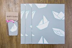 paper boats wrapping paper
