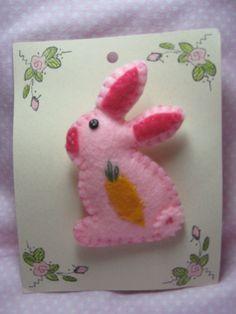 Easter Pink Bunny Rabbit Pin