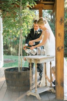 A Rustic Elegant Navy and White Wedding
