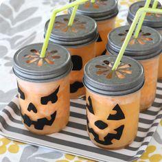 Fizzy Pumpkin Party Drinks