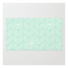 Pastel Mint Chevron Floral Rug ($28) ❤ liked on Polyvore featuring home, rugs, zig zag rugs, zig zag area rug, floral rug, pastel rug and chevron stripe rug