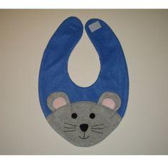 Bib inspiration~~Mouse Bib / Infant Baby Bib / Animal Fleece Bib / by DinkyDimples, $20.00