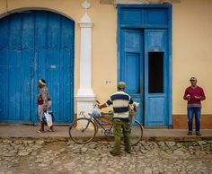"Yep still circling back to the Cuba photos. I call this one ""walk talk & hustle"" on the streets of Trinidad Cuba. #postcardplaces #frgnland #intentionallylost #cuba #people_and_world"