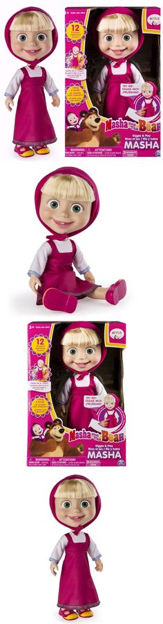 Dolls And Bears: 12 Realistic Interactive Doll Giggle And Play Masha And The Bear -> BUY IT NOW ONLY: $27.95 on eBay!