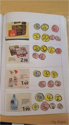 Melissa saved to okinawaTeken het geld of hoeveel . - Melissa saved to okinawaTeken het geld of hoeveel Math Classroom, Kindergarten Math, Teaching Math, Preschool, Classroom Activities, Counting Coins, Counting Money, Material Didático, Primary Maths