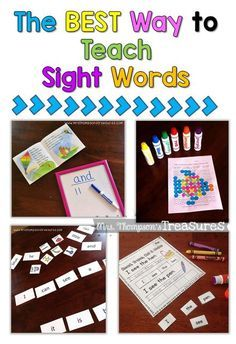 Ideas and activities for teaching sight words! Fun and engaging.