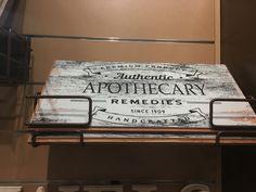 Decor, apothecary sign, vintage sign
