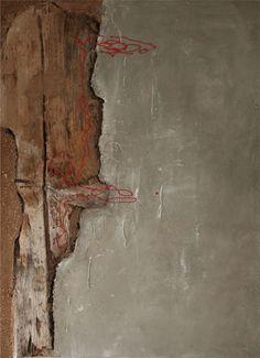 Perfect day 60 x 80 cm  Hout, klei en acryl op paneel