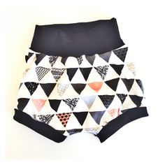 Doodle Triangles Pink - Organic Shorties or Bloomies  26.00 Triangles 6ba39db32fa1