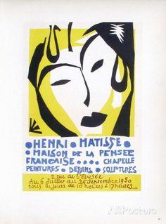 AF 1950 - Maison De La Pensée Française Collectable Print, Henri Matisse