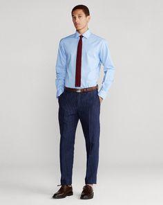 Men's Button-Down Shirts | Ralph Lauren High Tension, Poplin, Gingham, Button Down Shirt, Ralph Lauren, Slim, Spinning, Cloths, Fitness