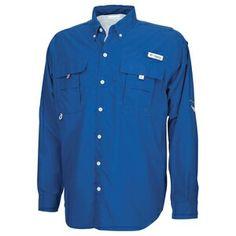 COLUMBIA Men's PFG Bahama™ II Long Sleeve Shirt - Marine Blue