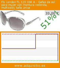 Fly London FL 123 004 A - Gafas de sol para mujer con montura redonda, multicolor, talla única (Ropa). Baja 51%! Precio actual 33,00 €, el precio anterior fue de 68,02 €. http://www.adquisitio.es/fly-london/fl-123-004-gafas-sol