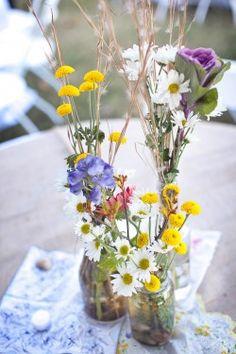 Wildflower-Centerpieces