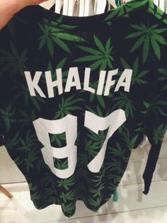 sweater wiz khalifa shirt khalifa 87 jersey long sleeve long sleeved weed 420 black white green lovely kalifa weed sweater weed leaf weed, k...