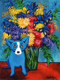 Musings of an Artist's Wife: Blue Dog Speaks