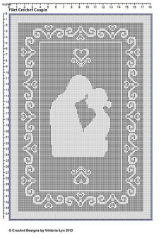"Ravelry: Filet crochet PATTERN ""Couple-1"" NOW WITH ROW BY ROW INSTRUCTIONS! pattern by Viktoria-Lyn"