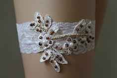 Wedding Garter,Champagne Lace Bridal Garter,Wedding Accessory,Bridal Lingerie,Wedding Lingerie