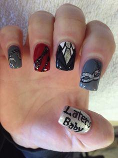 50 shades of grey nail art