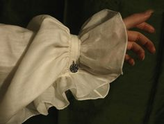 Pale Voile ruffle pinned at the wrist Yennefer Of Vengerberg, By Any Means Necessary, Slytherin Aesthetic, Gothic Aesthetic, Estilo Fashion, Mode Inspiration, Aesthetic Pictures, Light In The Dark, Pirates