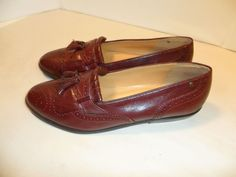 2c32401a5cd Women s Etienne Aigner Shoes Tassled Leather Slip On Classic Loafers BROWN-  7 N  EtienneAigner  Loafers