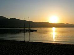 Sunset at Alykanas beach on the Greek island of Zante Zakynthos